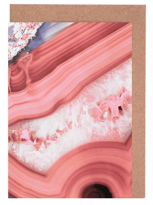 Agate Living Coral Greeting Card Set