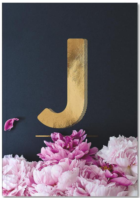Flower Alphabet J Notebook