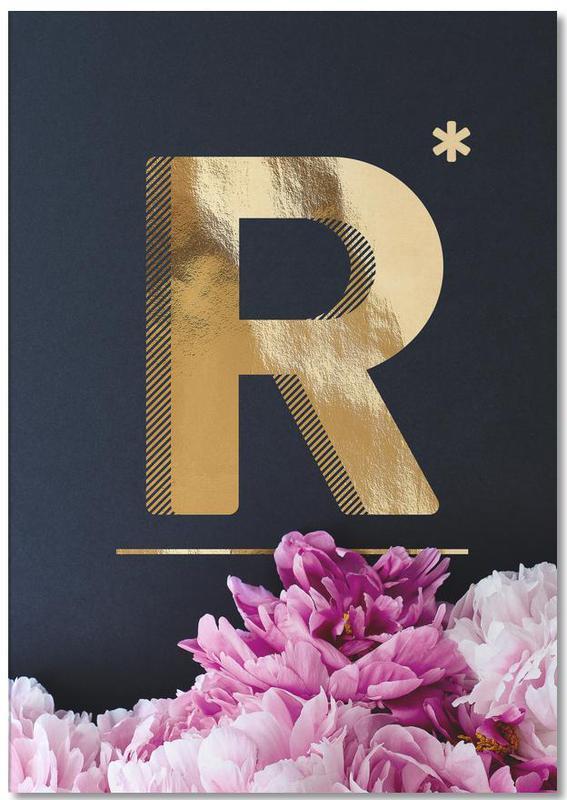 Flower Alphabet R -Notizblock
