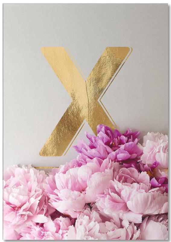 Flower Alphabet X -Notizblock