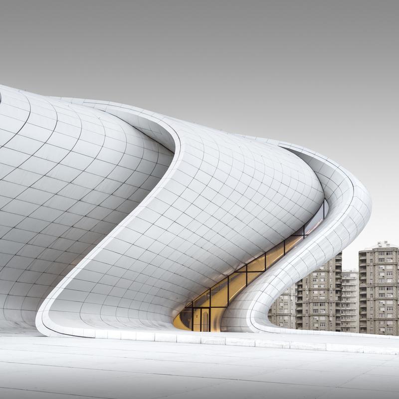 Baku Heyd?r ?liyev M?rk?zi Study 4 Leinwandbild | Dekoration > Bilder und Rahmen > Bilder | Mehrfarbig | Holz
