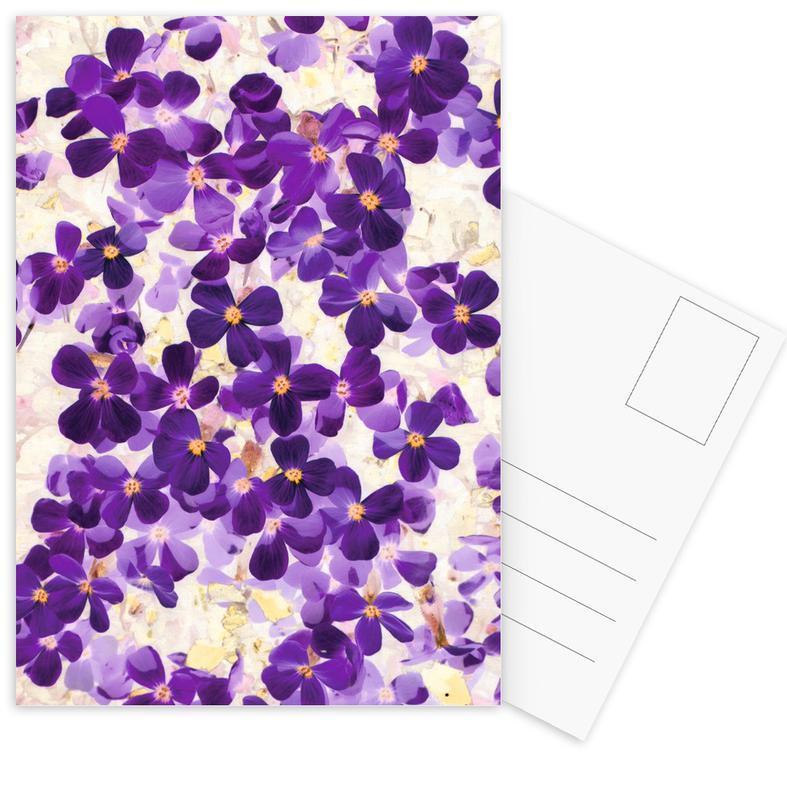Violet Bloom Postcard Set