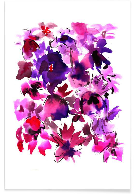 Sara Pink Floral Poster