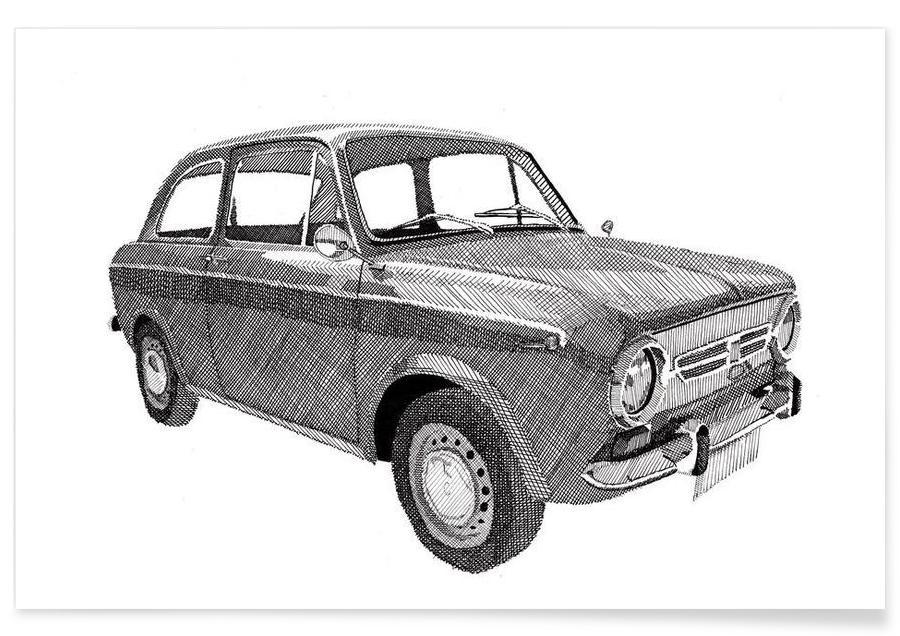 Fiat 850 -Poster