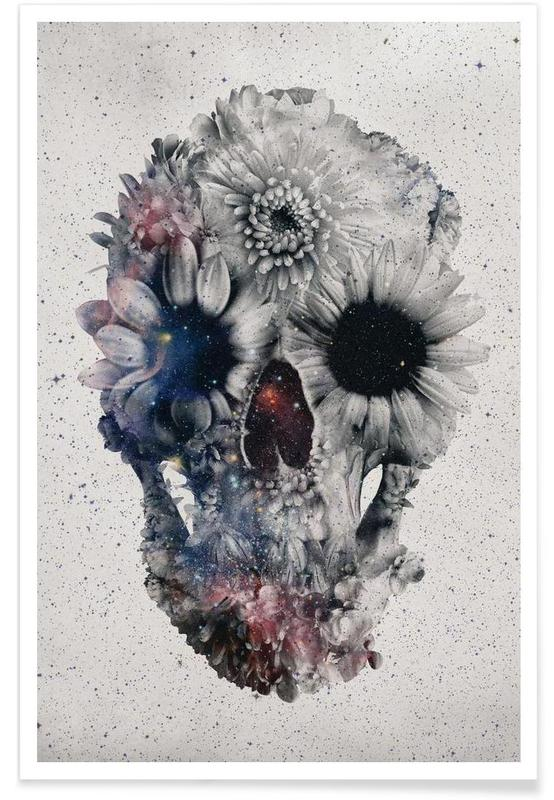 Floral skull II Poster