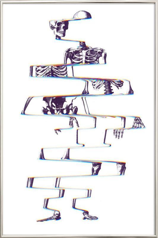 Skeleton Poster in Aluminium Frame