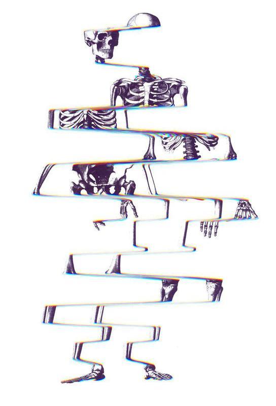 Skeleton Aluminium Print