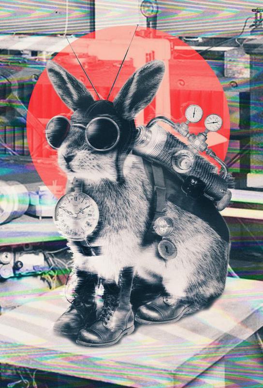 Time traveller -Acrylglasbild