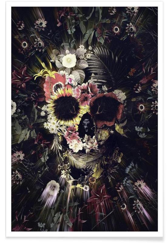 Garden Skull Poster
