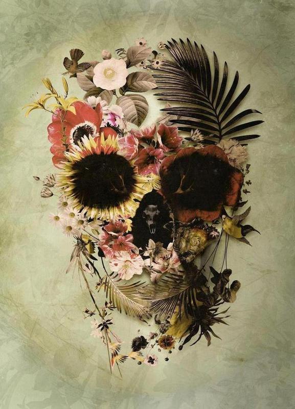 Garden Skull Light toile