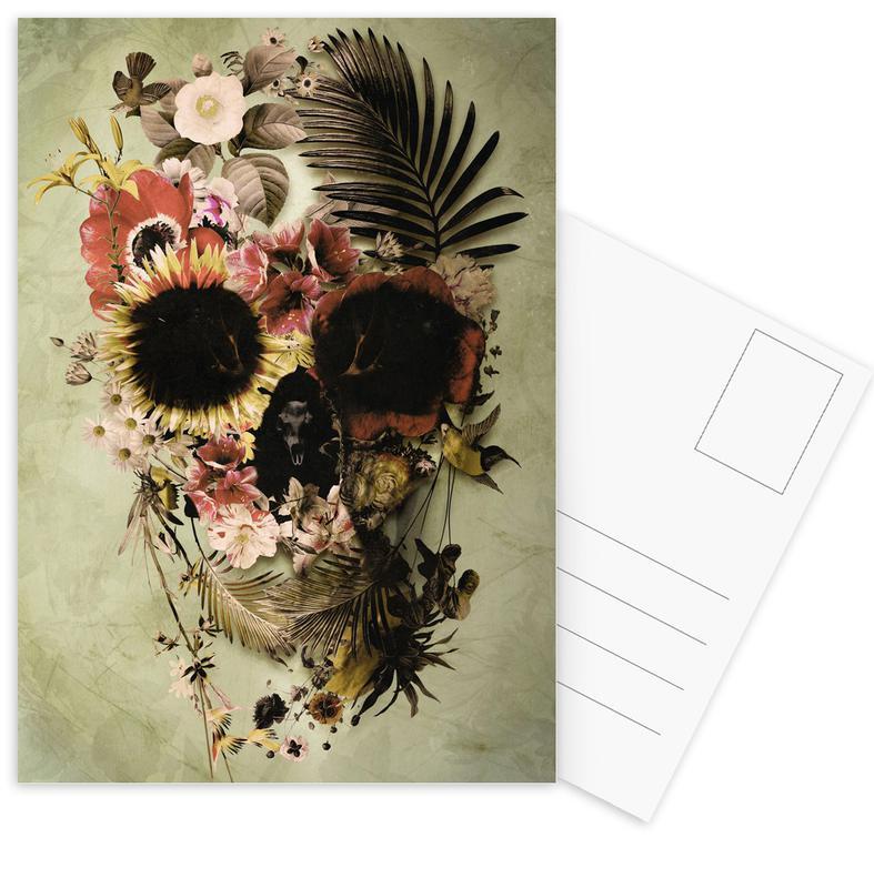 Garden Skull Light Postcard Set