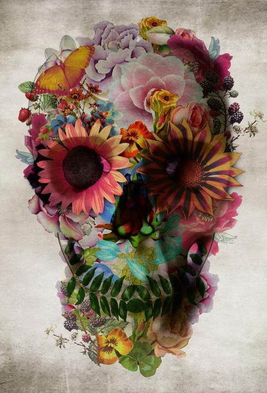 Skull II -Acrylglasbild