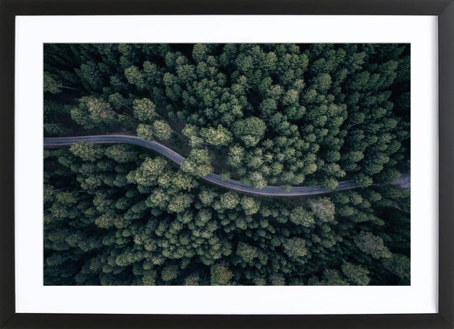 From Above - Antonio Carrillo Lopez -Bild mit Holzrahmen