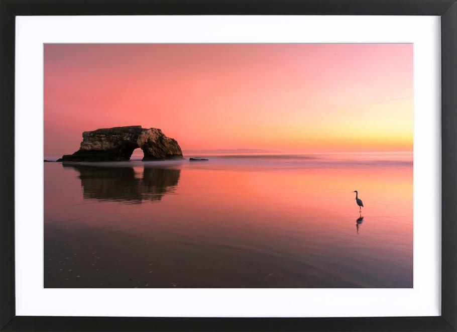 Sunset at the Natural Bridge 2 - Rob Li -Bild mit Holzrahmen