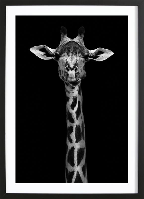 Giraffe Pt - Wildphotoart affiche sous cadre en bois