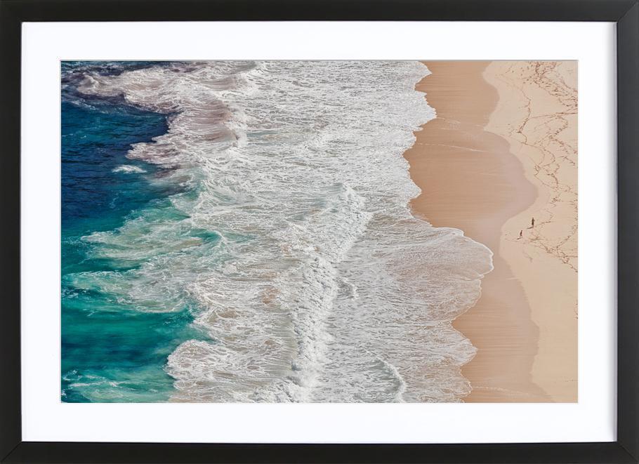 Where the Ocean Ends... - Andreas Feldtkeller Framed Print