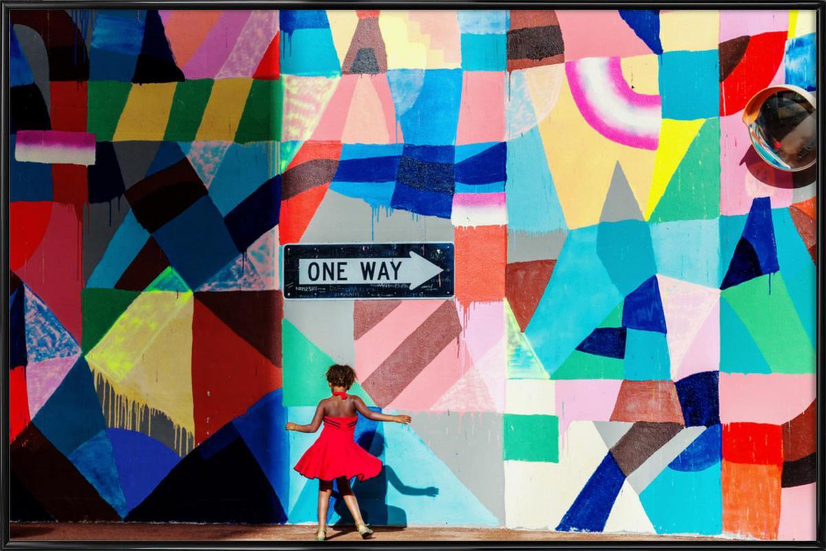 One Way - Gloria Salgado Gispert Framed Poster