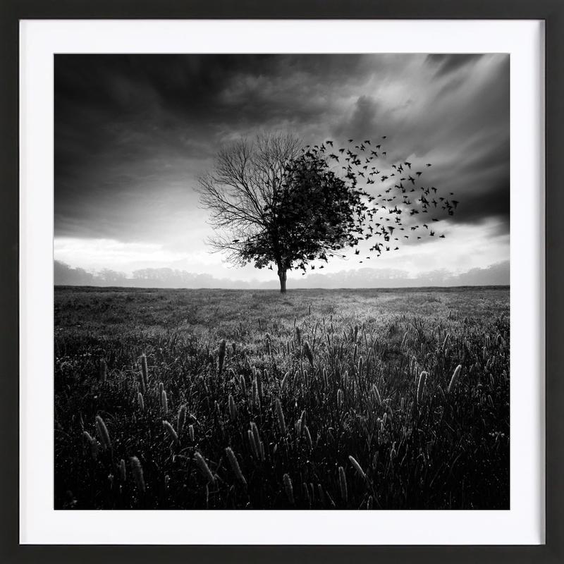 Illusion d'un printemps perdu Framed Print
