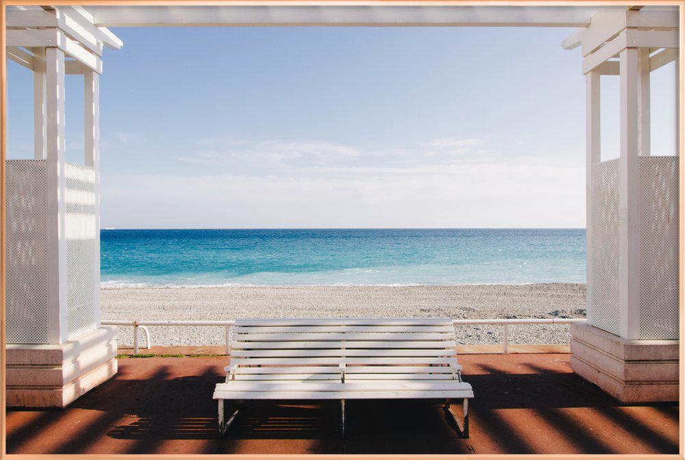 Window to the Sea Poster in Aluminium Frame