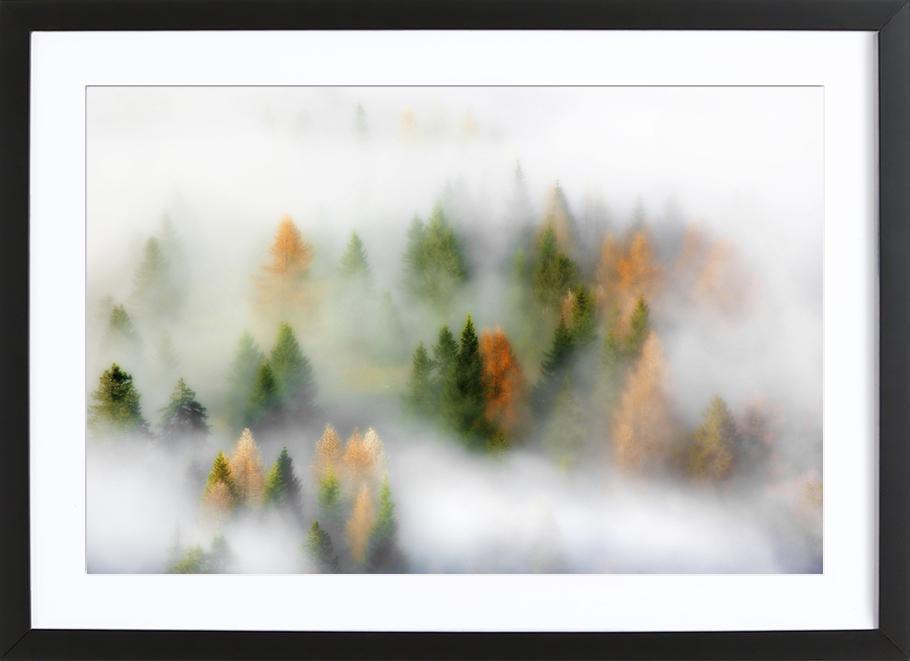 Autumn Dream - Kristjan Rems affiche sous cadre en bois