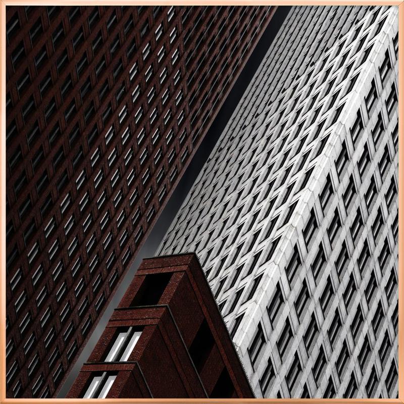 In Tribulation - Gilbert Claes Poster in Aluminium Frame