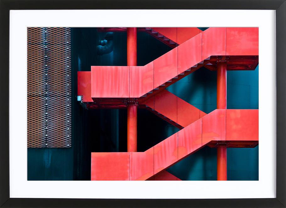 Red Route - Linda Wride Framed Print