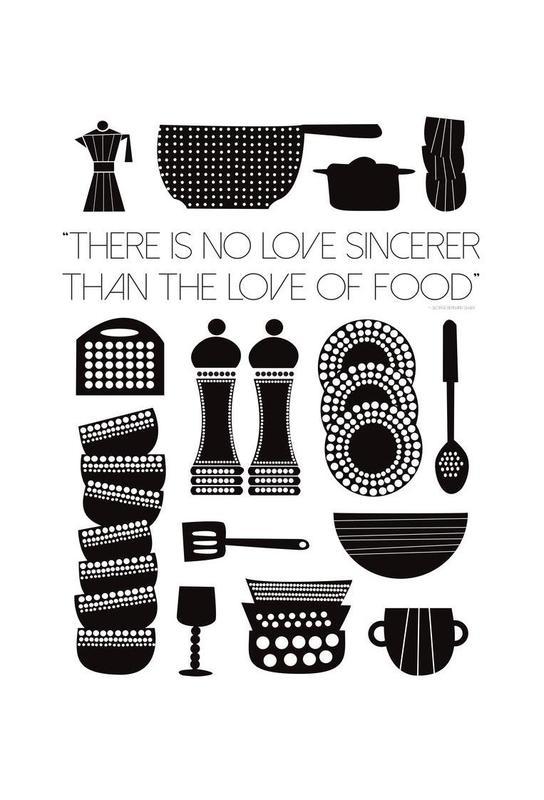 Love Of Food Acrylglasbild   Dekoration > Bilder und Rahmen > Bilder   Mehrfarbig   Aluminium