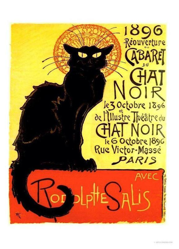 Chat Noir Leinwandbild