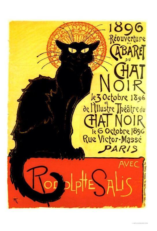 Chat Noir Acrylglasbild