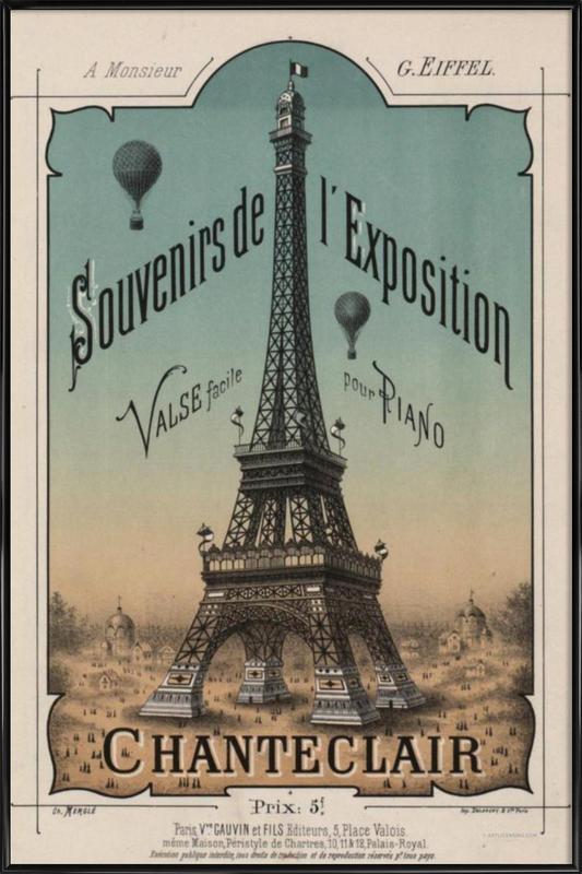 Eiffel Exposition -Bild mit Kunststoffrahmen
