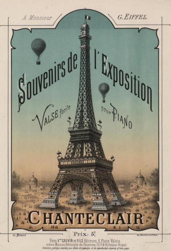 Eiffel Exposition Acrylic Print