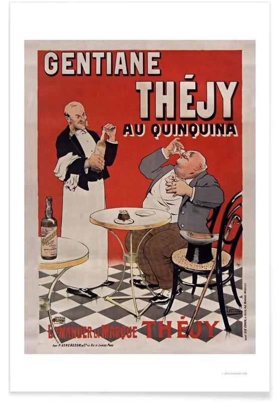 Gentiane Thejy au Quinquina Premium Poster
