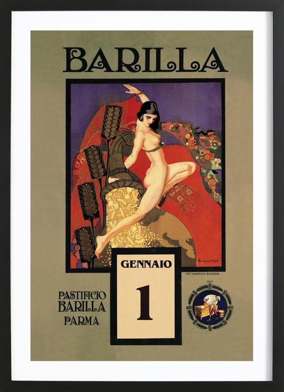 Barilla Premium Poster gerahmt | Dekoration > Bilder und Rahmen > Poster | Mehrfarbig