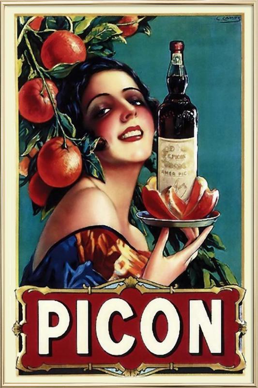 Picon Liquor poster in aluminium lijst