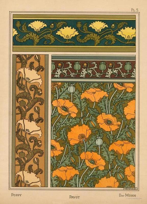 Eugene Grasset - Poppy 05 Canvas Print
