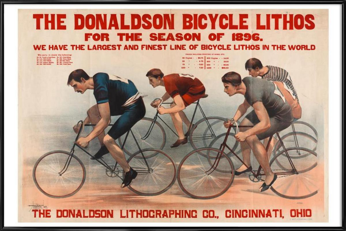 Donaldson Bicycle Framed Poster