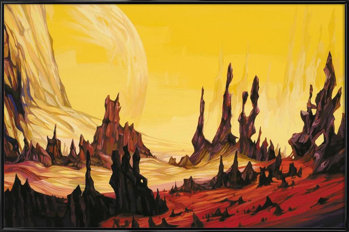 Red Desert -Bild mit Kunststoffrahmen