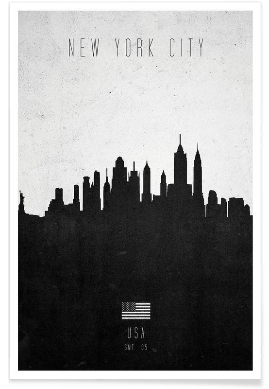 New York City Contemporary Cityscape affiche