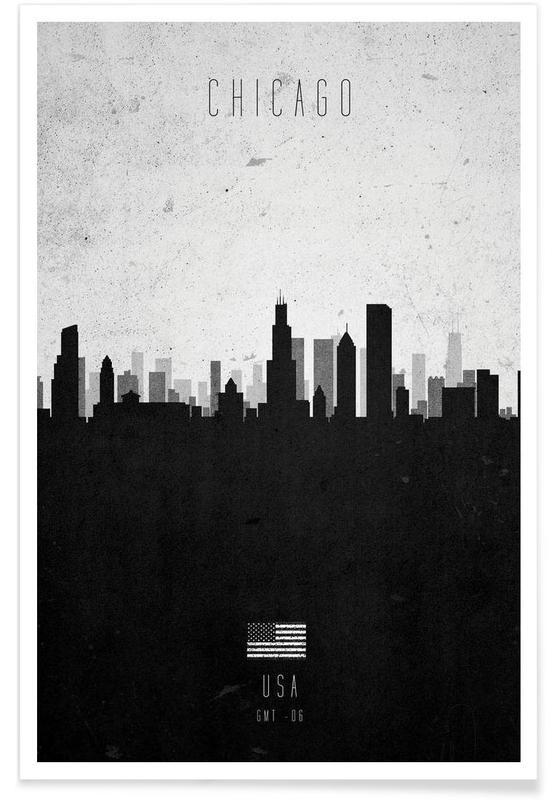 Chicago Contemporary Cityscape Poster