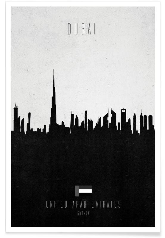 Dubai Contemporary Cityscape Poster