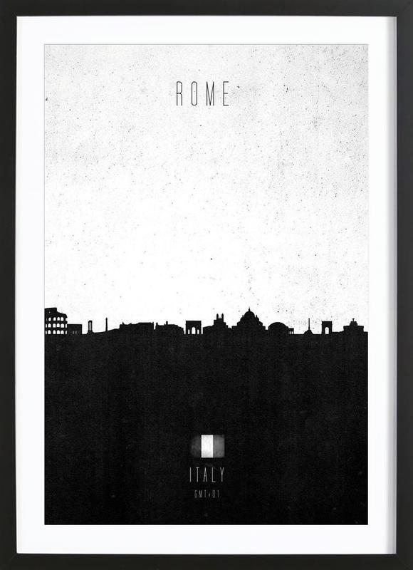 Rome Contemporary Cityscape -Bild mit Holzrahmen