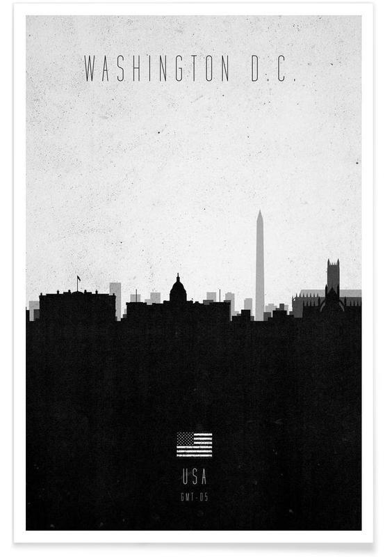 Washington DC Contemporary Cityscape Poster