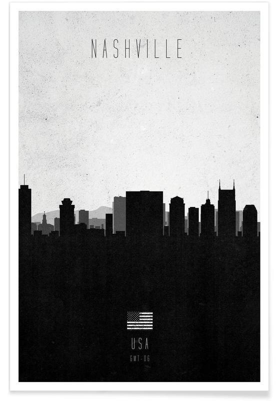 Nashville Contemporary Cityscape Poster