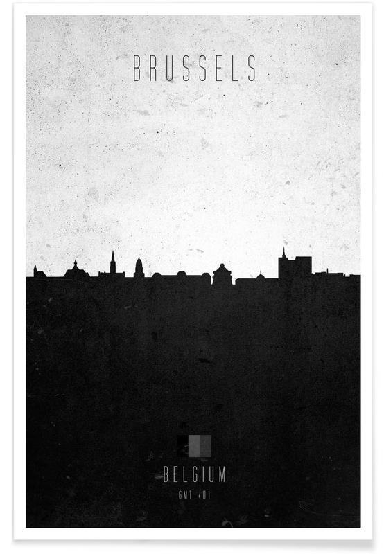 Brussels Contemporary Cityscape poster