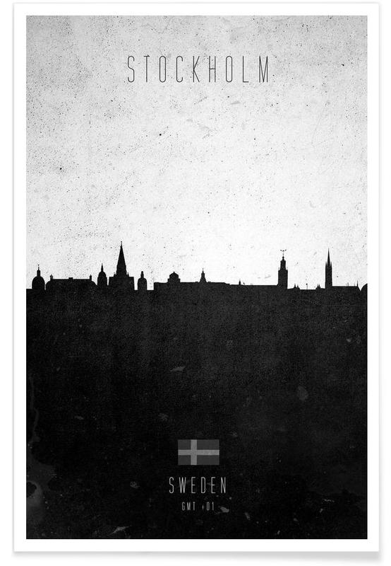 Stockholm Contemporary Cityscape Poster