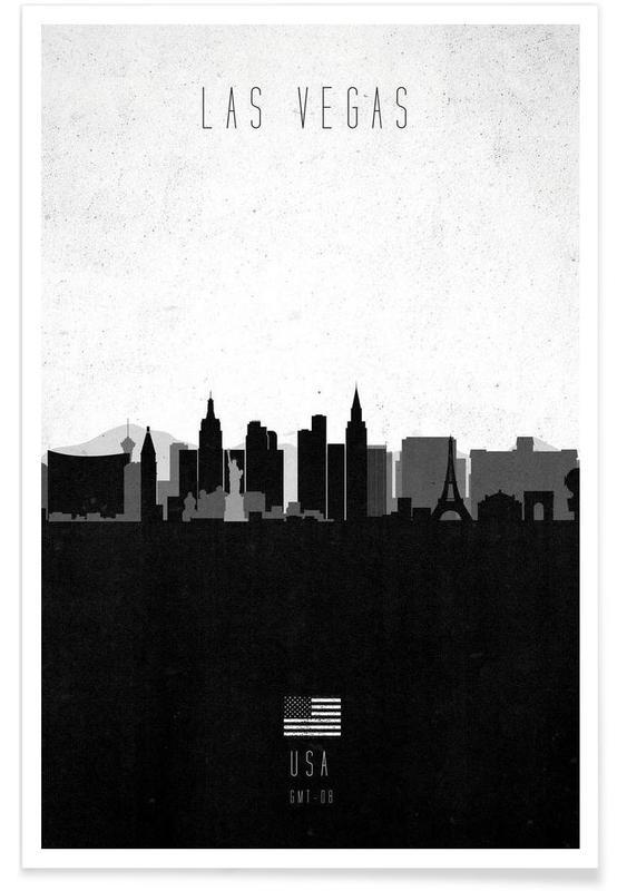 Las Vegas Contemporary Cityscape affiche