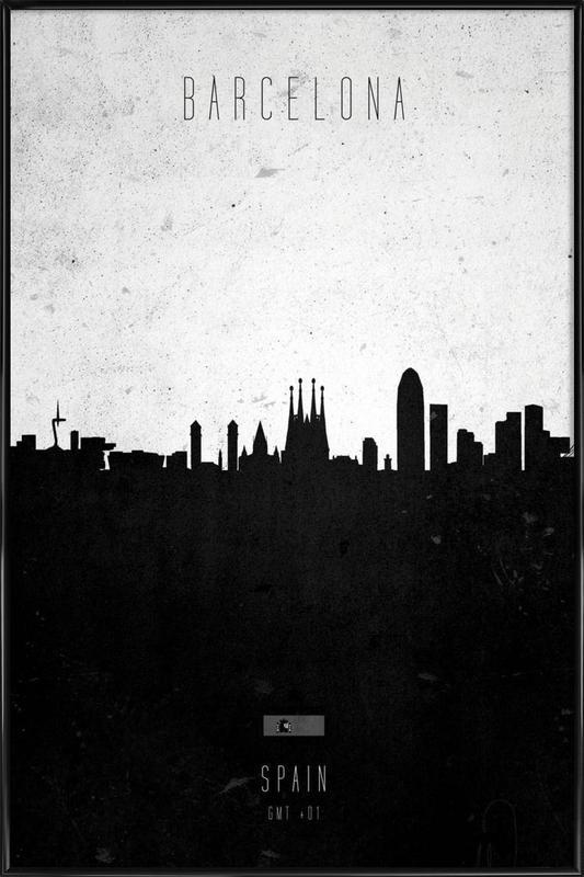 Barcelona Contemporary Cityscape Framed Poster