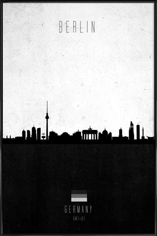 Berlin Contemporary Cityscape Framed Poster