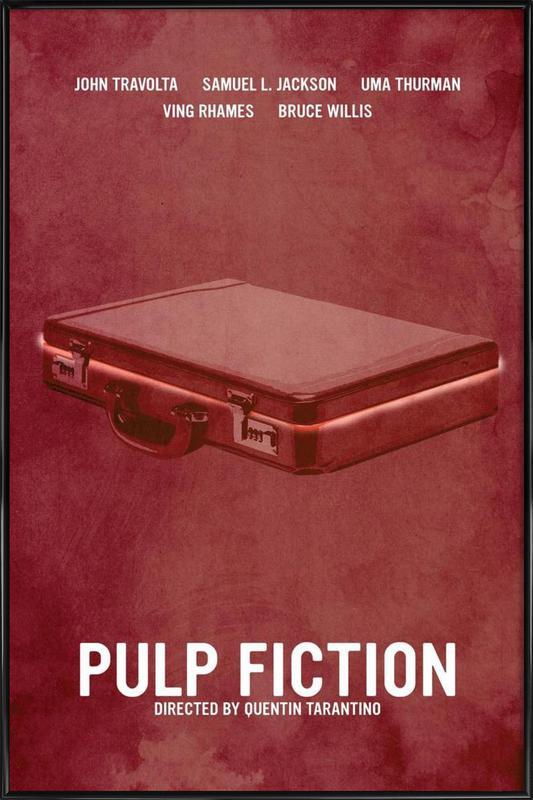 Pulp Fiction -Bild mit Kunststoffrahmen