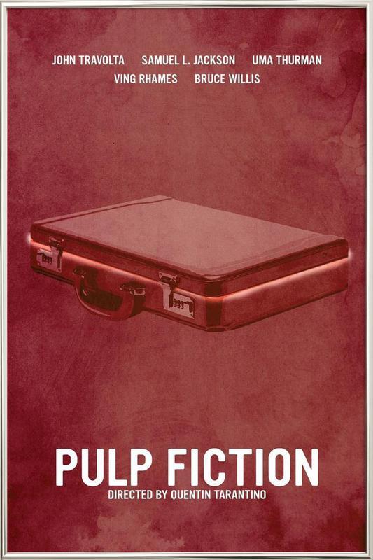 Pulp Fiction -Poster im Alurahmen